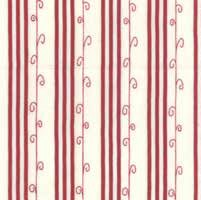 Mistletoe Lane - White Crimson Stripe - by Bunny Hill Designs <i>Retired Fabric</i>