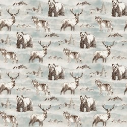 """22"""" Remnant  - Misty Mountain - Flannel by Deborah Edwards for Northcott"""