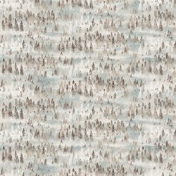 """End of Bolt - 66"""" - Misty Mountain - Flannel by Deborah Edwards for Northcott"""