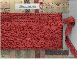 Vintage Find!  Mistletoe Manor Woven Trim in Berry