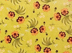 Olivia Floral on Green by Gundrun Erla of G.E. Designs for Red Rooster Fabrics
