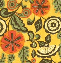 "12"" Remnant Piece Pumpkins Gone Wild Halloween Quilting Fabric ~ by Sandy Gervais for Moda Fabrics"