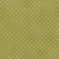 "5"" Remnant - Home Essentials - Green/Cream Dots - by Robyn Pandolph for RJR Fabrics"