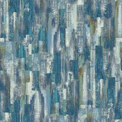 "9"" Remnant - Harbor Reflections #22950-44  Feature - Swhishes Blues/Tans/Browns  - by Northcott Fabrics"
