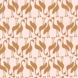 Pond Collection- Gold Swan Pattern by Elizabeth Hartman for Robert Kaufman
