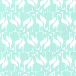 Pond Collection- Ice Frappe Swan Pattern by Elizabeth Hartman for Robert Kaufman