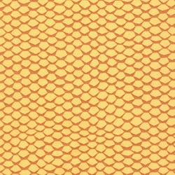 "End of Bolt - 62"" - Pond Collection- Gold Honeycomb Pattern by Elizabeth Hartman for Robert Kaufman"