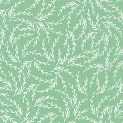 "End of Bolt - 81"" - Pond Collection- Celadon Fern Pattern by Elizabeth Hartman for Robert Kaufman"