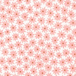 """End of Bolt - 53"""" - Pond Collection- Peach Small Flower Pattern by Elizabeth Hartman for Robert Kaufman"""