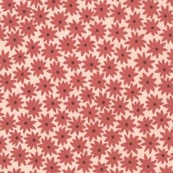 Pond Collection- Terracotta Small Flower Pattern by Elizabeth Hartman for Robert Kaufman