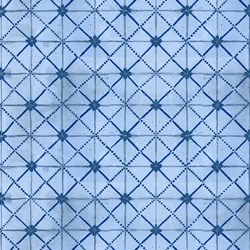 Roosters - Blue Tonal Grid - <br>by Audrey Jeanne Roberts for In the Beginning Fabrics