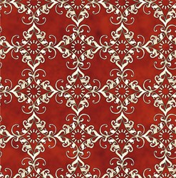 Roosters - Red Medallion - <br>by Audrey Jeanne Roberts for In the Beginning Fabrics