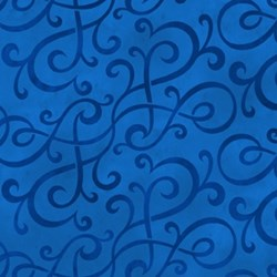 Scrolls - Blue  by Jason Yenter for In the Beginning Fabrics
