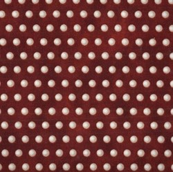 Roosters - Red/Cream Dots - <br>by Audrey Jeanne Roberts for In the Beginning Fabrics