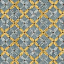 Shine - Blue/Gold Geometric - by Jackie Paton for Red Rooster Fabrics