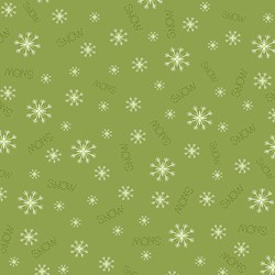 "Simply Christmas - Green ""Snow"" & Snowflakes"