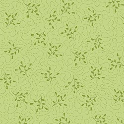 Simply Christmas - Green Leaves with Stitching
