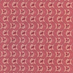 "End of Bolt - 57"" - Stone Cottage Romantic Quilting Fabric Red Wavy Lace"