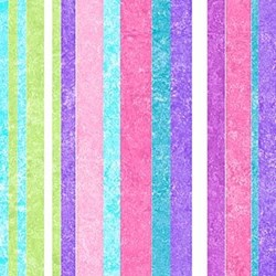 "End of bolt - 36"" - Stonehenge Little Girls Rainbow - Purple Stripes - by Deborah Edwards and Linda Ludovico for Northcott"