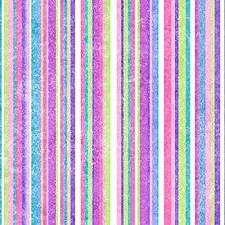 Stonehenge Little Girls Rainbow - Purple Stripes Small - by Deborah Edwards and Linda Ludovico for Northcott