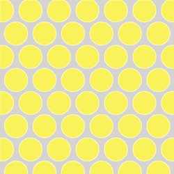 "39"" END OF BOLT - Sweet Harmony - Yellow Circles on Gray - by Amy Hamberlin for Henry Glass & Co. Inc."