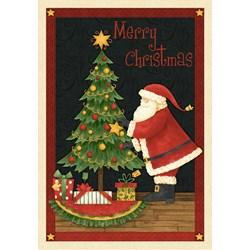 "Santa's Big Night - 24"" Panel - by Debbie Mumm for Wilmington Prints"