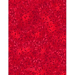 Essentials - Bright Red Climbing Vine - Wilmington Prints