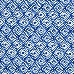 Blue Porcelain - Diamonds - by Clothworks