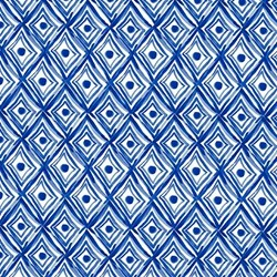 Blue Porcelain - Diamonds - by Clothworks #Y2036-1