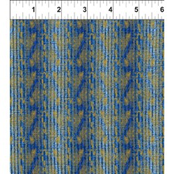 Dreamscapes - Blue and Gold Pattern