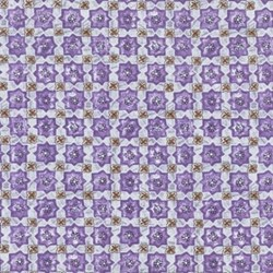 "33"" Remnant - Duquesa II Quilting Fabric - Lilac and Mocha Print"