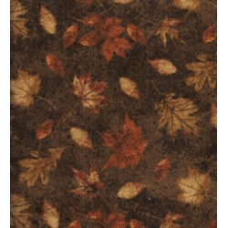"End of Bolt - 54"" -Call of teh Wild - Flannel - Leaves on Brown - by Deborah Edwards for Northcott"