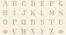 "Vintage Find!  Cross-Stitch Alphabet Bronze - 24"" Panel by Lakehouse Dry Goods"