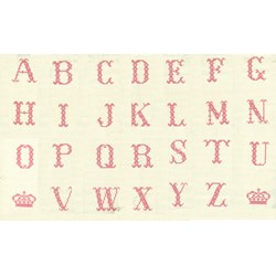 "Vintage Find!  Cross-Stitch Alphabet Powder - 24"" Panel by Lakehouse Dry Goods"
