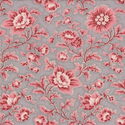 Floral on Grise - Le Bouquet Fracais by French General for Moda