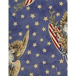 "8"" Remnant - Liberty Garden Fabric Eagle Star - Tan"