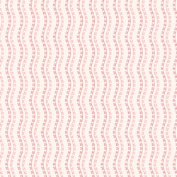 Little Sweethearts - Rose & Pink Heart Vine Stripe - by Renee Nanneman for Andover Fabrics