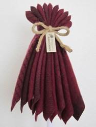 Last One!  Hand-Dyed Wool Bundle- Black Cherry
