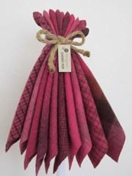 Last One!  Hand-Dyed Wool Bundle- Cherry Pop