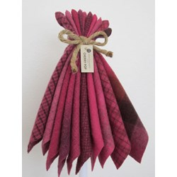 Last One!  Hand-Dyed Wool Bundle- Cherry Pop