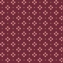 "24"" Remnant -  -Maywood Burgundy Geometric Floral - Burgundy & Blush - Sew Merry Collection by Maywood Studios"