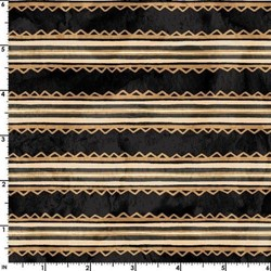 In Stitches -Trimmed Stripe - Black/Tea Color #86120JT - by Maywood Studios