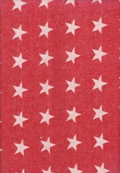 "VINTAGE FIND!! American Classics by MODA - 54"" Woven Fabric - Stars on Red"