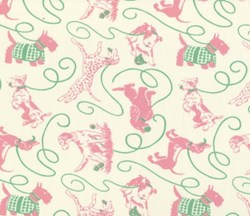 """2@ 15"""" x 19""""  Remnants - Pampered Pooch - 54"""" Pooches in the Park -Pinks"""