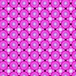 Paradise - Tiled Grid Pink - In The Beginning Fabrics