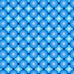 Paradise - Tile Grid Blue - In The Beginning Fabrics