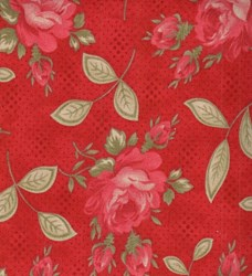 "4 @ 7"" x 88""each"" - - Prairie Paisley - Red Floral"