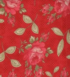 """4 @ 7"""" x 88""""each"""" - - Prairie Paisley - Red Floral"""
