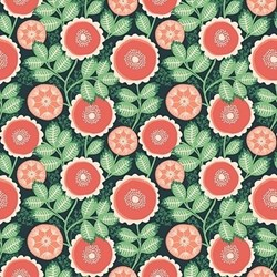 "End of Bolt - 17"" - Florabella by Artisan Floral Joel Dewberry for Free Spirit Fabrics"