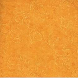 """End of Bolt- 66"""" - RJR Fabric- Dark Gold Flowers"""